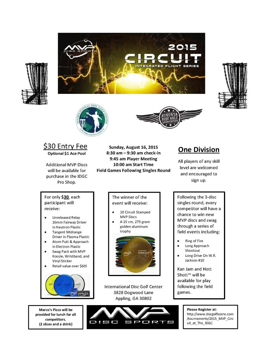 Mvp Circuit Augusta Disc Golf Association See Larger Image Click To Version